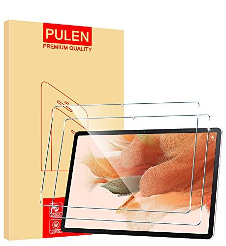 PULEN Panzerglas für Samsung Galaxy Tab S7 FE 5G/WIFI Schutzfolie [2 Stück], HD Panzerfolie Glass Klar folie Displayschutzfolie (12,4 Zoll)