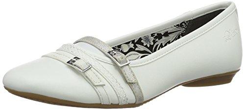 s.Oliver Damen 22110 Geschlossene Ballerinas, Weiß (White 100), 37 EU