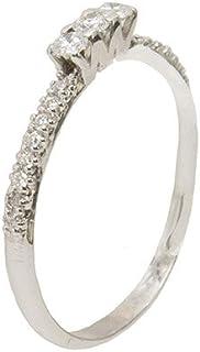 Gilu - Gioielli Anello In Oro Bianco 18 Kt Con Diamanti