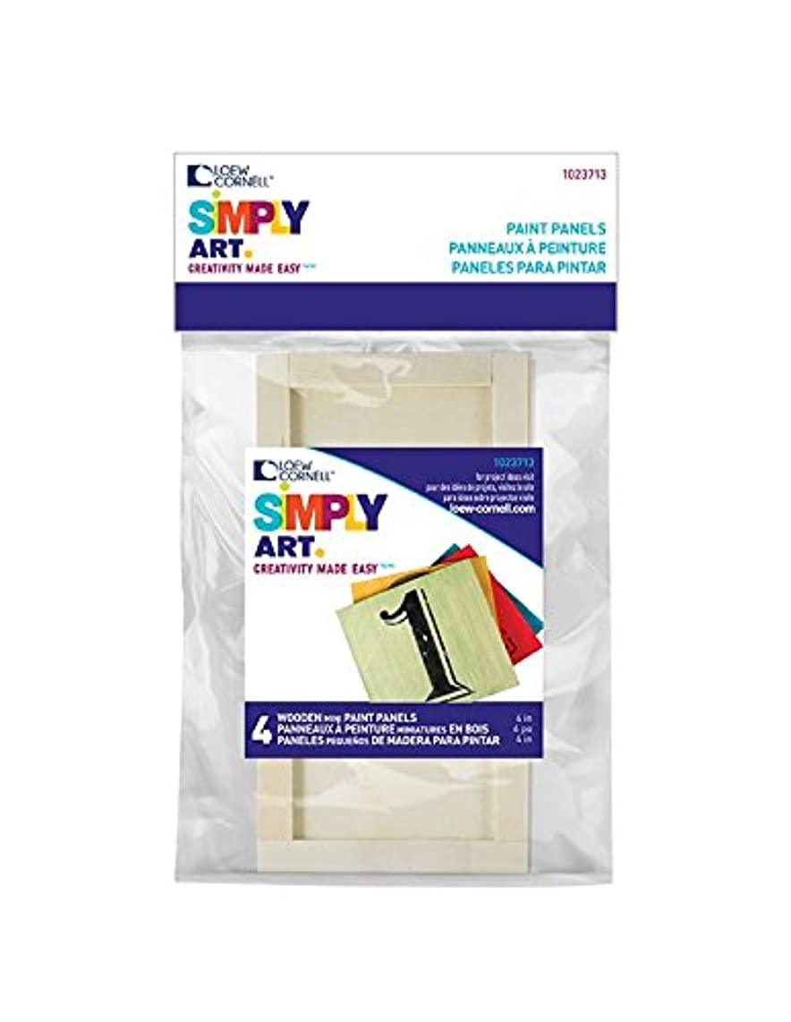 Loew-Cornell Simply Art, 4 Piece, Mini Wood Paint Panel