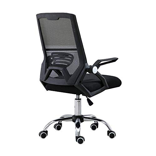 WSDSX Chair Office Chair Task Swivel Executive Computer Chair with Rotatable Handrail Ergonomic Office Desk Chair Adjustable Height Mesh Gaming Chiar for Dorm Room Study,Black