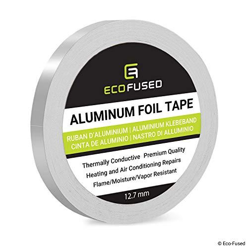 Eco-Fused Cinta de Papel Aluminio Premium - para Reparaciones de Calentadores y Aires acondicionados - Térmicamente conductivo - Resistente el Fuego/Humedad/Vapor - Refleja el Calor y la luz