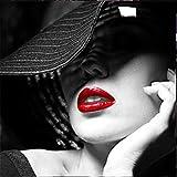 Kit de Pintura de Diamante 5D Para Adultos y Niños Hermosa dama DIY Diamond Painting Taladro de Cristal Bordado Punto de Cruz Cuadros Arte Craft Decoración de la Pared Del HogarRegalo 40x40cm
