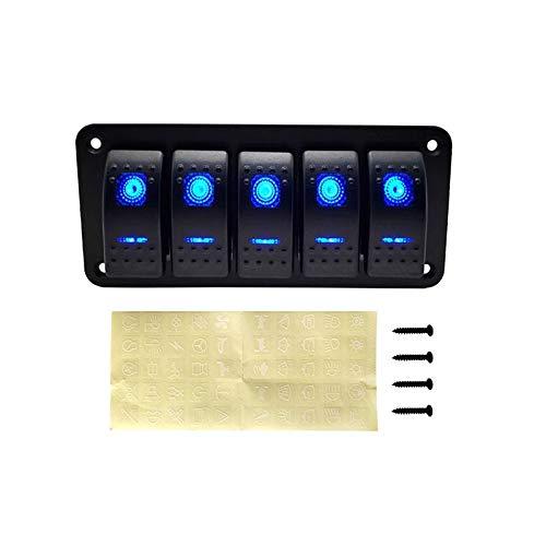 Qclj0412 Panel de interruptores de Rocker de 12V LED para camión de barco náutico Caravana Caravana Cojín de automóviles interruptor de interruptor de interruptor de interruptor Piezas de repuesto