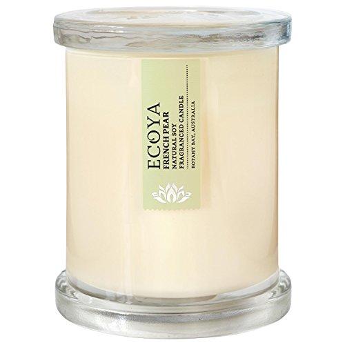 Ecoya Metro Jar French Pear Candle (Pack of 2) - Ecoya地下鉄ジャーフランスの梨キャンドル (Ecoya) (x2...