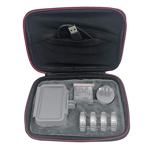 Techfection Osmo Action Mini Tasche Tragetasche Schutztasche Wasserdichte Hartschalenkoffer Stauraum für DJI OSMO Action, Akku, Filter, Adapter und anderes Zubehör (Kamera und Zubehör Nicht enthalten)