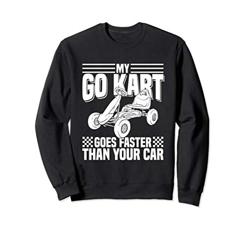 Kids, My Go Kart, Racing Car Kart Racing Sweatshirt