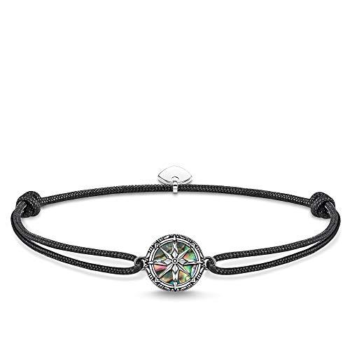 Thomas Sabo unisex-bracelet Little Secret compass abalone mother-of-pearl 925 Sterling silver blackened LS085-907-11-L22v
