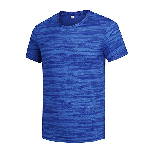 WAQD Men's Sportswear Breathable Quick-Drying Short-Sleeved T-Shirt Casual Round Neck Sports T-Shirt Breathable Cool Dry Running Tops Short Sleeve Gym Tops Sports Top Gym T-Shirt Fitness Clothing