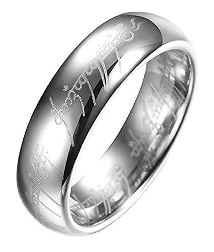 EVRYLON Ring Mann der Herr der Ringe Film tv-Serie Silber größe es 13