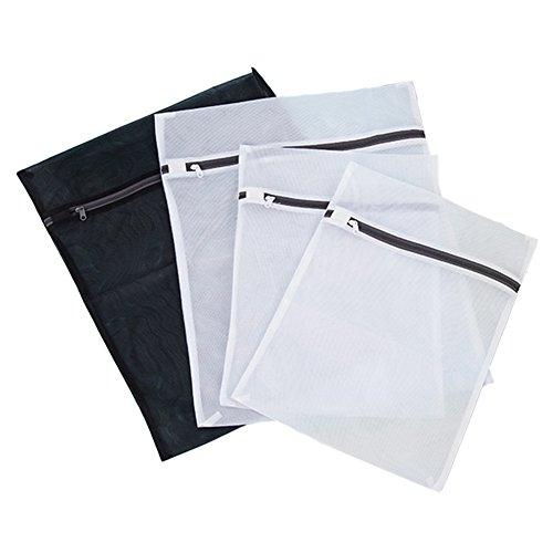 Aspire Sacs à linge en maille de grande qualité en maille durable Trousse de toilette, Lot de 4