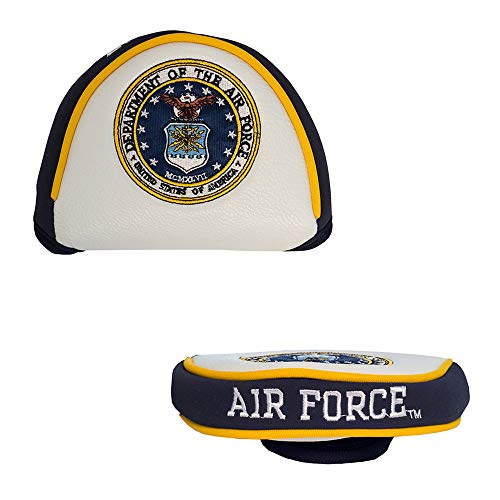 Team Golf Military Air Force Golf Club Mallet Putter Headcover, Fits Most Mallet Putters, Scotty Cameron, Daddy Long Legs, Taylormade, Odyssey, Titleist, Ping, Callaway