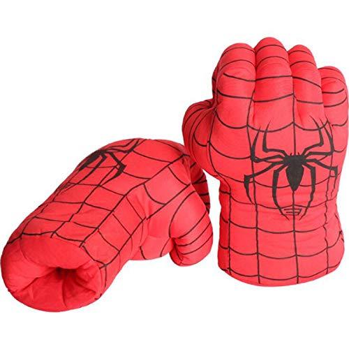 BLOUR 2 Morceaux de Gants Hulk, Gants de Boxe Hulk Spiderman, Gants D'entraînement de Boxe pour Enfants, Accessoires de Costume de Jeu de Rôle