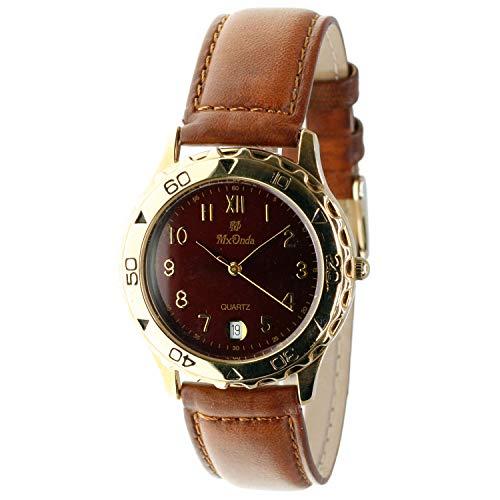 MX-Onda Mod. 01034 - Reloj analógico de Cuarzo Unisex (Mujer/homre/cadete) con Calendario. Diámetro Caja: 35 mm