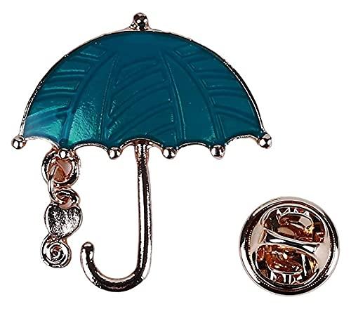Seupeak Regenschirm Brosche Exquisite Persönlichkeit Regenschirm Legierung Brosche Brust Hemd Tasche Hochzeit Braut Pin Broschen Zubehör Für Frauen Mädchen Schmuck Komfortabel und umweltfreundlich