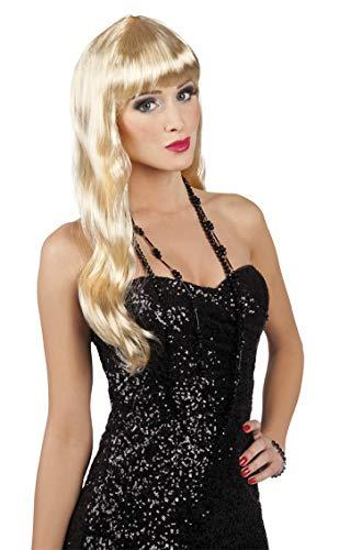 Perruque blonde cheveux Parti Chique long