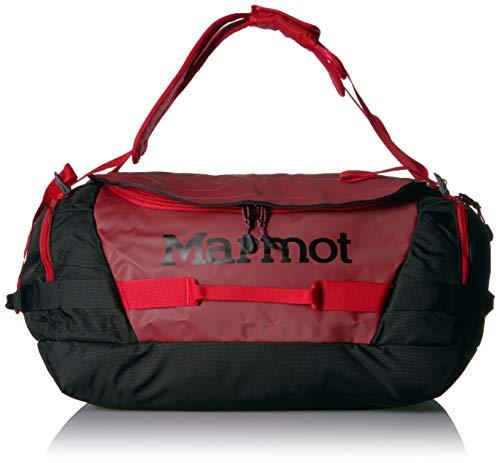 Marmot Long Hauler Duffel Bag Medium, Robuste Reisetasche, Sporttasche, Weekender, 50L Fassungsvermögen, Brick/Black