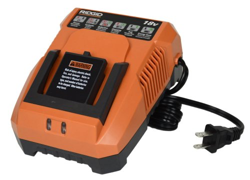 Ridgid R86091 18 Volt NiCd or Lithium Ion Dual Chemistry Cordless Tool Battery Charger (Bulk Packaged)