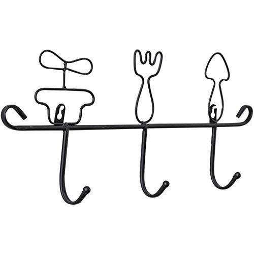 Perchero de Pared Porche creativo Llave de gancho Montado en la pared Abrigo de la puerta Estante Estante de la pared Almacenaje Llavero Llavero decorativo Abrigo Perchero Gancho ( Color : B )