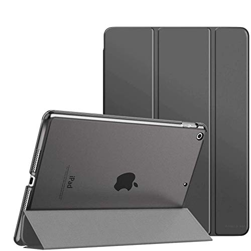 iPad Case for New iPad 8th Generation Case 2020 / Tablet Stand for 7th Generation 2019, iPad 10.2 Case - Slim Lightweight iPad Cover with Back Protector for iPad 10.2 Inch Case (Grey)