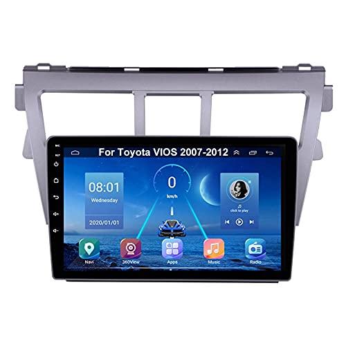 Android Autoradio 9 Pulgadas Coche Radio De Coche Pantalla Tactil Para Toyota VIOS 2007-2012 Para De Coche Conecta Y Reproduce Autoradio Mit Bluetooth Freisprecheinrichtung