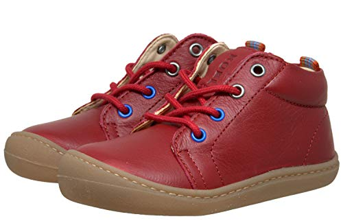 Koel4kids Barefoot Bio - Zapatillas de piel para aprender a caminar, color Rojo, talla 23 EU