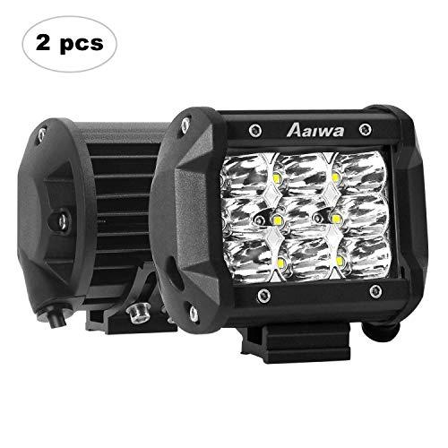 AAIWA Faro da Lavoro LED, 4 Pollici 27W Faretti a LED per Auto Barra LED Fuoristrada LED Pods con 9 LEDs per SUV ATV UTV Truck Barca, 2 Pezz