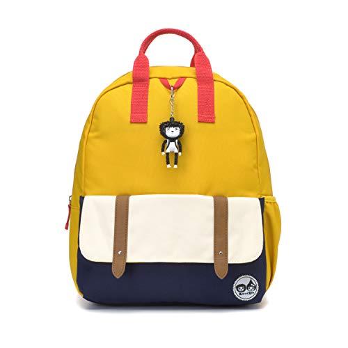 Mustard Colour Block Kids Children Junior Backpack Rucksack Schoolbag Girl Boy