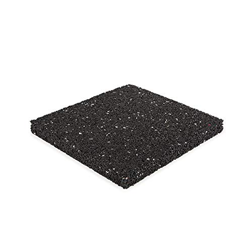 Terrassenpad 200x200x20mm (set 40 stück) | Schwarz gesprenkelt | Terrassenpads | aus Gummigranulat | Gummigranulatmatten