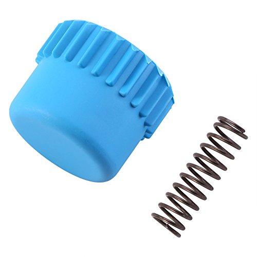 nobrands Perilla de Tope de Nailon - Juego de Accesorios de Resorte de Metal para Cabezal de Corte de Hilo Husqvarna(Cubierta Azul T25 + Resorte TT25)