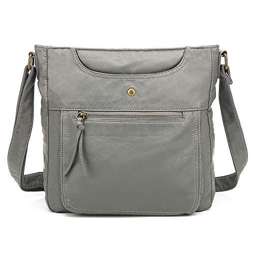 Scarleton Large Crossbody Shoulder Bag for Women, Purses for Women, Handbag for Women, Ultra Soft Washed Vegan Leather, H1812