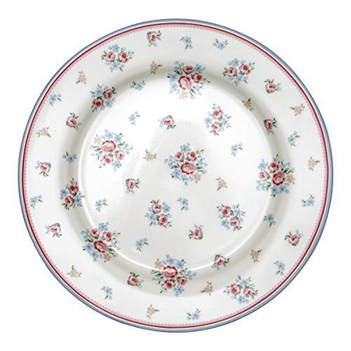 GreenGate - Teller, Speiseteller, Essteller - Nicoline - White - Porzellan - Ø 25,3 cm