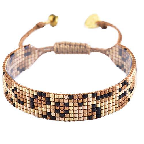 Mishky Beaded Bracelet with Adjustable Closure (Leopard Narrow)