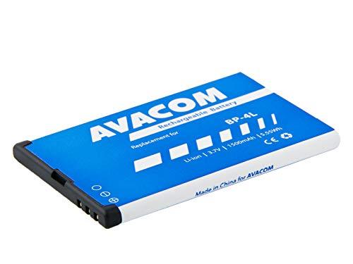 Batteria per cellulare Nokia E55, E52, E90, Li-Ion 3, 7 V, 1500 mAh (ricambio BP-4L)