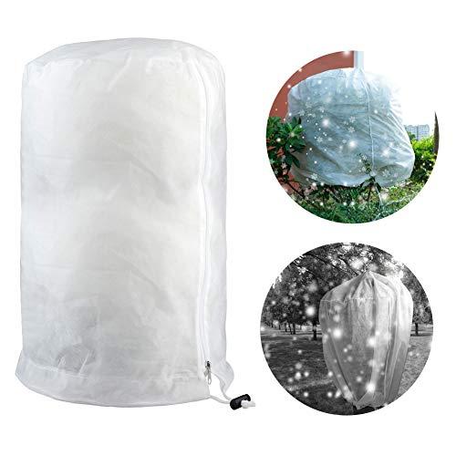 JYCRA, copertura invernale antigelo per piante, 3D, rotonda, antigelo, fodera in pile per fiori, arbusti, alberi