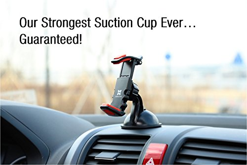 Exogear ExoMount Ultra Car Mount Car Holder with The Worlds Strongest Patented Suction Cup Technology for ALL iPhones and ALL iPhones and ALL Samsung Galaxy Phones (Includes all other smartphones and