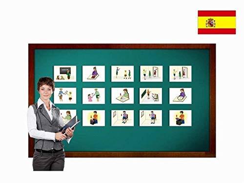 Yo-Yee Flashcards Cartes Images en Espagnol - Consignes - pour l'enseignement des Langues et l'Encouragement linguistique dans Les garderies, Les Jardins d'Enfants et Les écoles