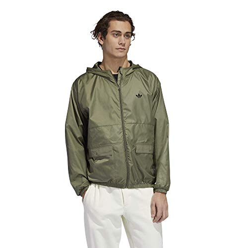 Adidas Light Windbreaker - Men's Legacy Green/Black, XXS
