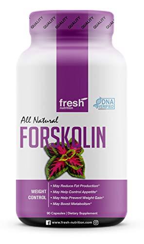 Forskolin - Strongest DNA Verified - Coleus Forskohlii - Vegan Friendly - Non GMO - Gluten Free