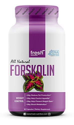 Forskolin - Strongest DNA Verified - Coleus Forskohlii - Appetite Suppressant for Weight Loss - Diet Pills That Work Fast for Women & Men - Keto Diet Pills - Belly Fat Burner Weight Loss Supplements