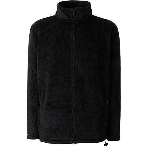 Fruit of the Loom Herren Full Zip Fleece Sweatshirt, Schwarz (Black), Large