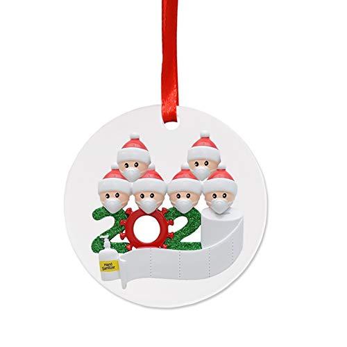 djryj - Colgante de árbol de Navidad con bolígrafo para decoración navideña de Navidad 2020 (blanco E)