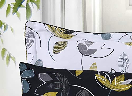 Divine Textiles, set copripiumino reversibile in 100% cotone egiziano, stampato., Bloom, 2 Oxford Pillow Cases