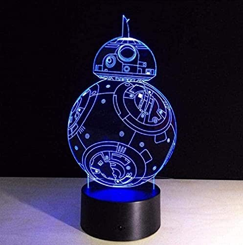 3D illusion night light children mood light 7 color remote control and touch button holiday gift light - Star Wars