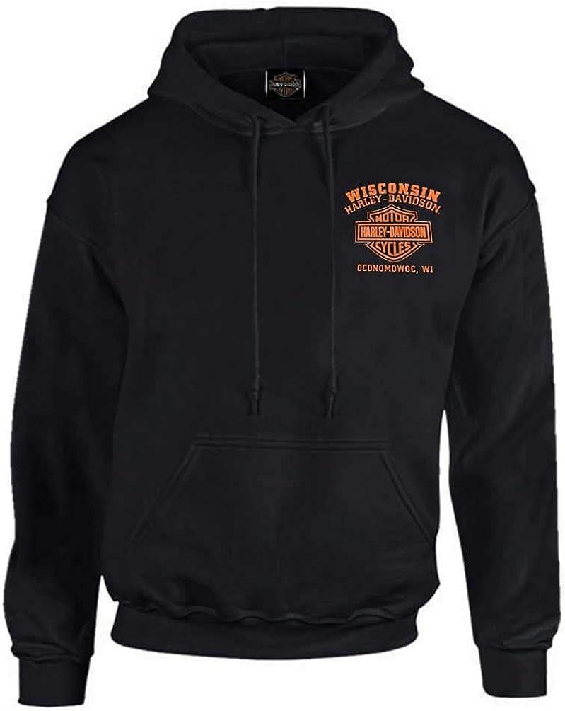 Harley-Davidson Men's Custom Freedom Fleece Pullover Hoodie - Solid Black