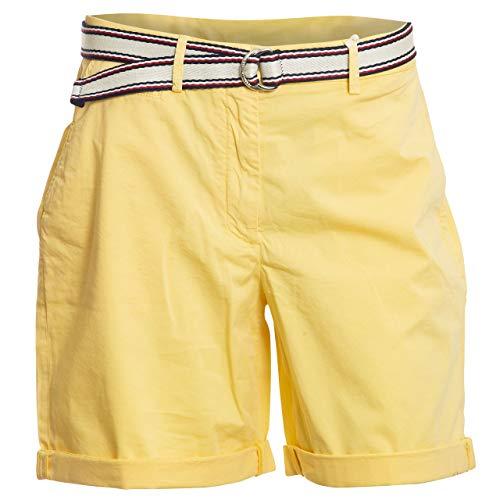 Tommy Hilfiger Damen GMD Cotton Tencel Bermuda Slim Jeans, Gelb (Sunray Zfb), 40 (Herstellergröße: 42)
