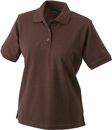 James + Nicholson Klassisches Ladies Poloshirt JN 071 Gr. Large, braun - braun