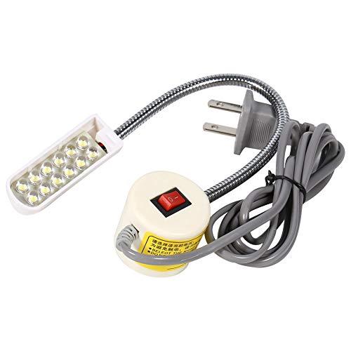 Vobor Draagbare naaimachine, magnetische basisschakelaar, flexibele montagelamp (AC 220-250V)