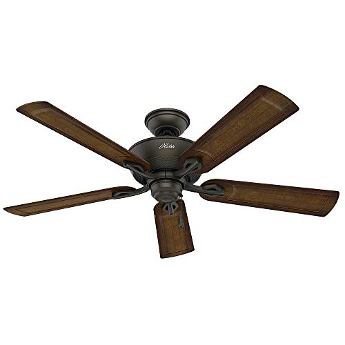 Hunter Caicos 52 in. New Bronze Wet Rated Ceiling...