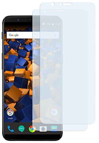 mumbi Schutzfolie kompatibel mit OnePlus 5T Folie klar, Bildschirmschutzfolie (2x)